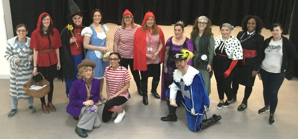 Our East Academy staff dress-up for World Book Day 2018